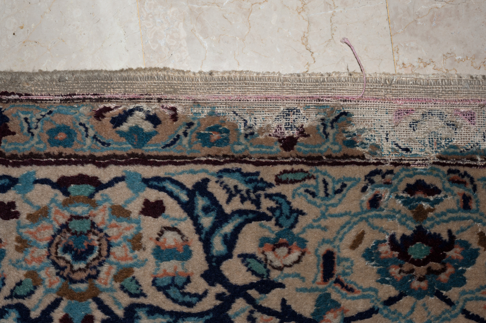 moth damage to hand knotted rug