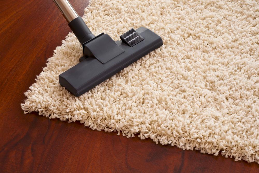 vacuum a tufted rug